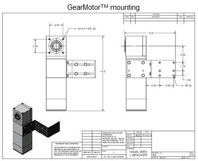 GearMotorTM mounting